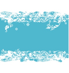 teal Christmas vector image