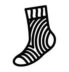 Travel sock icon simple style vector