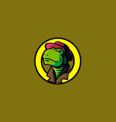 Turtle head mascot vector
