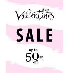 valentine s day sale banner vector image