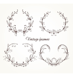 vintage elements for design vector image
