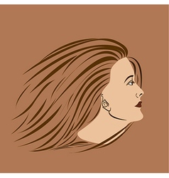 Woman side vector