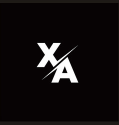 Xa logo letter monogram slash with modern logo vector