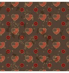 American vintage seamless pattern vector image vector image