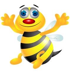 bee cartoon vector image