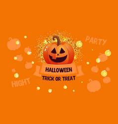 halloween sale banner with pumpkin and money vector image