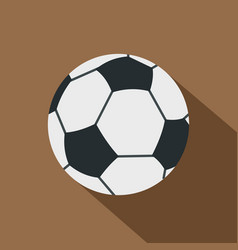 soccer or football ball icon flat style vector image