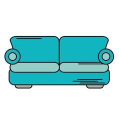 sofa comfor furniture design vector image