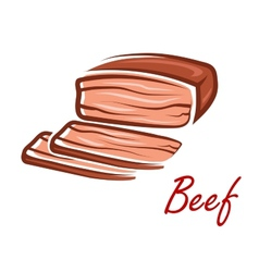 Cartoon roast beef in retro style vector image vector image