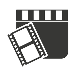 clapperboard with cinema icon vector image