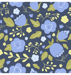 Floral seamless pattern with blue roses vector image vector image