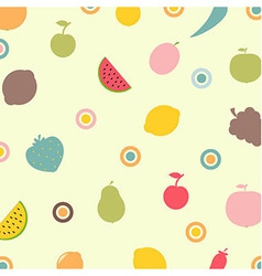 Fruits And Vegetables Abstract Background vector image