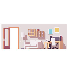 Home office interior vector