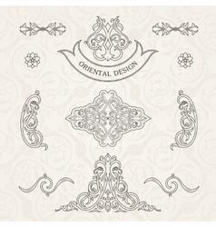 set classic Calligraphic design vector image