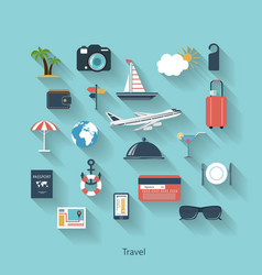 Travel and tourism modern concept in flat design vector image
