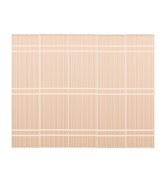 A Brown Bamboo Mat on White Background vector image