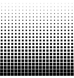 abstract halftone black square on a white vector image
