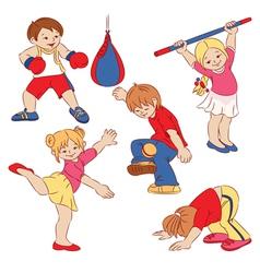 cartoon small children vector image