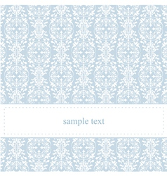 Classic lace card or wedding invitation vector image