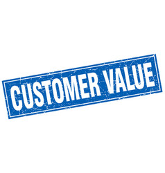 Customer value square stamp vector