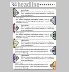 infographic document template abstract with icons vector image