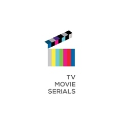 Logo for online TV movie serials vector image