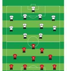 soccer formation vector image vector image