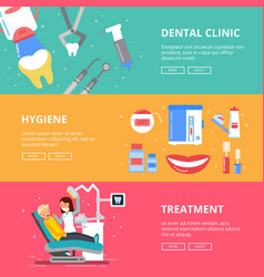 three horizontal banners of medicine concept vector image vector image