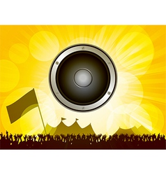 Festival and crowd with speaker vector image