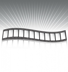 Film strip and rays vector