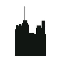 pictogram buildig city high architecture vector image