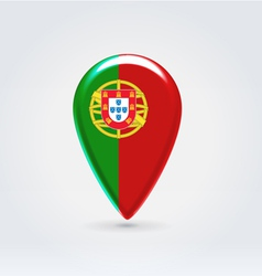 Portugalian icon point for map vector image vector image