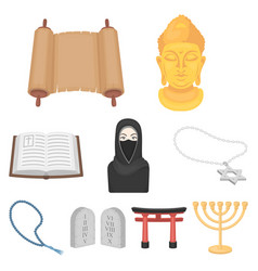 religion set icons in cartoon style big vector image vector image