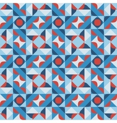 Seamless geometric square pattern in blue vector