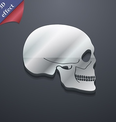 Skull icon symbol 3d style trendy modern design vector
