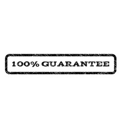 100 percent guarantee watermark stamp vector