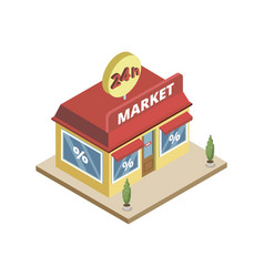 24h market building vector