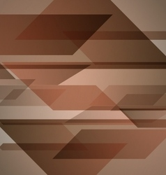 Abstract brown background with geometric shapes vector