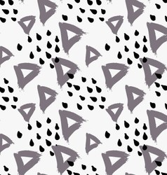 Abstract gray triangle with dots vector image