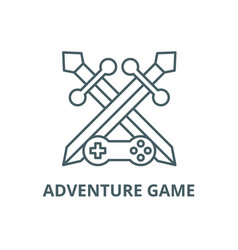 Adventure game line icon adventure game vector