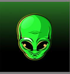Alien head mascot logo vector