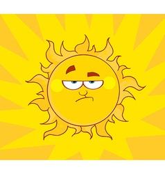 Angry sun vector