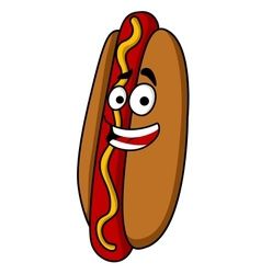 Appetizing hot dog with mustard vector