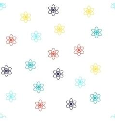 Atom Seamless Flat Pattern vector image