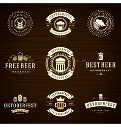 Beer festival oktoberfest celebrations labels vector