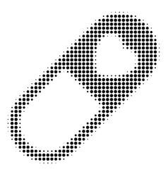 Black pixel love granule icon vector