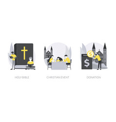church gathering abstract concept vector image