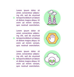 Climate justice solutions concept icon with text vector