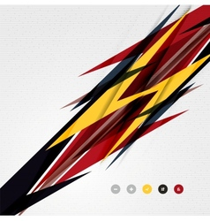 Colorful abstract technology lightning shapes vector