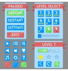 Colorful game GUI vector